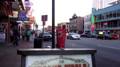 Live Music Venues on Broadway in Nashville Tennessee Stock Footage