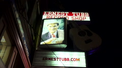 Famous Ernest Tubb Record Shop on Broadway in Nashville Stock Footage