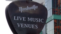 Sign Nashville Live Music Venues Stock Footage
