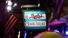 Famous Leyla´s Bar on Broadway in Nashville Stock Footage