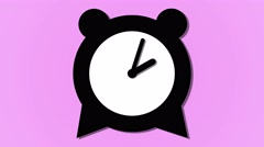 Alarm clock ticking down animation loop graphic resource background pink Stock Footage