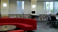 Library Common Area Stock Footage