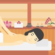 Woman recieving massage vector illustration Stock Illustration