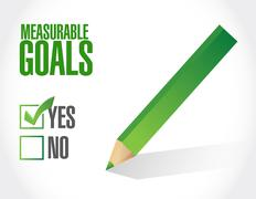 Measurable goals approval sign concept Stock Illustration