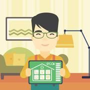 Smart home automation vector illustration Stock Illustration