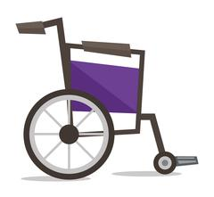Side view of empty wheelchair vector illustration Stock Illustration
