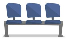 Row of blue chairs vector illustration Stock Illustration