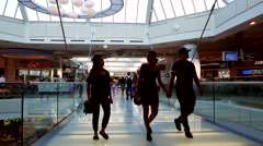 Motion of people at food court area inside Burnaby shopping mall Stock Footage