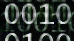 Binary code on computer screen. Technology concept. Stock Footage