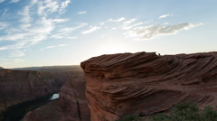 Sunset at Horseshoe bend facing south time lapse tight 1 Stock Footage