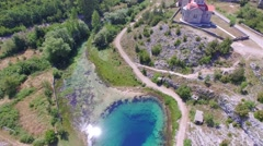 Cetina water source spring in Croatia Stock Footage