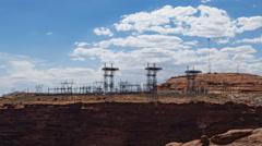 4K UHD Glen Canyon dam power distribution centertime lapse medium Stock Footage