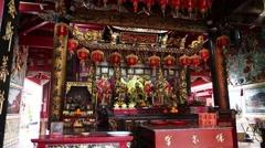 Singapore Baochi temple,shrine Stock Footage