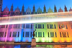 Marischal College view in the evening in Aberdeen Scotland Stock Photos