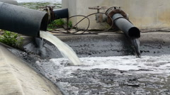 Water recycling on sewage treatment station. Stock Footage