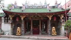Singapore Baochi temple Stock Footage