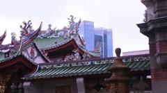 Singapore Foya temple Stock Footage