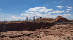 4K UHD Glen Canyon dam power distribution centertime lapse wide Stock Footage