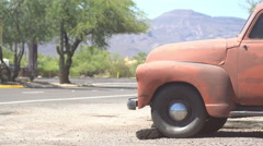 Oldtimer in Arizona Stock Footage