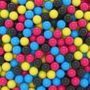 3D - CMYK Balls Stock Illustration