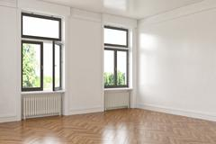 3d - empty room - apartment Stock Illustration