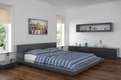 3d - modern bedroom Stock Illustration