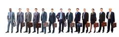 Group of business people. Isolated over white background Stock Photos
