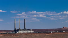 4K UHD Salt River Project-Navajo Generating Station time lapse medium Stock Footage
