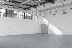 Empty warehouse - industrial interior Stock Illustration