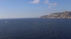 Marseille France French riviera sea coast line - stock footage