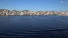 Marseille France French riviera sea coast line Stock Footage
