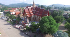 Pavilion of Wat Chalong  Stock Footage