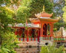 Congleton, Cheshire, UK. 8th August 2016. The Japaneeze Garden at Biddulph Gr Stock Photos