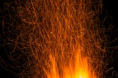 Sparks of bonfire night Stock Photos