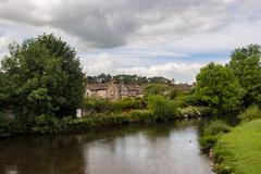 The river wye at Bakewell, Derbyshire, UK Stock Photos