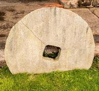Old corn milling wheel, Nether Alderley Mill, Congleton, Cheshire, Uk Stock Photos