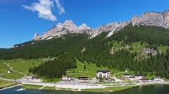 Misurina lake and mountains, Dolomites – Italy Stock Footage