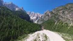 Dolomites Mountains near Misurina, Italy Stock Footage