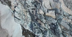 Crevasses on Glaciers - Aerial view 4k Stock Footage