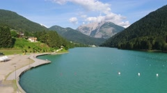 Lake of Auronzo, Italian Dolomites Stock Footage