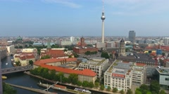 Berlin, aerial view. Going downward Stock Footage