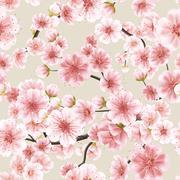 Seamless of pink Sakura. EPS 10 Stock Illustration