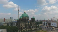 Berliner Dom, aerial view – going down from the sky Stock Footage