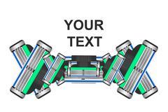 Razor blades in the vector - stock illustration