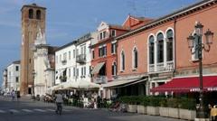Chioggia - Corso del Popolo Stock Footage