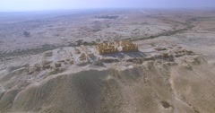 Archaeological site From the Byzantine period aerial shot. Stock Footage