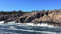 New England foliage Acadia National park Stock Footage