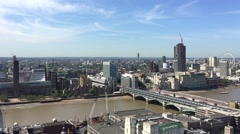 London buildings from rooftop Stock Footage