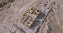 Archaeological site   aerial shot Stock Footage