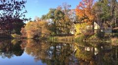 New England foliage lake Stock Footage